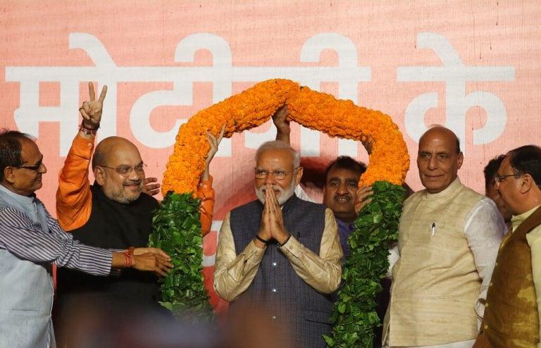 PM Modi visits his mother in Gandhinagar, seeks her blessings