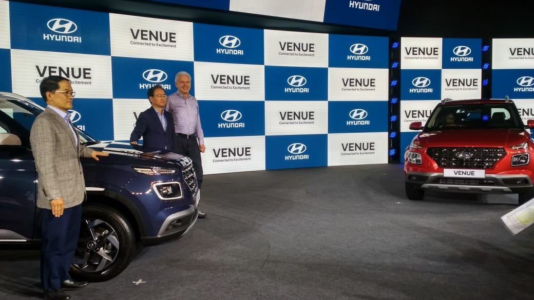 Venue is the company's first subcompact SUV and it is set to compete with Maruti Suzuki's Vitara Brezza, Mahindra XUV300, among others.