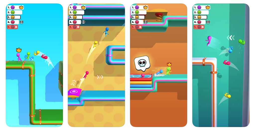 2. Run Race 3D: Run Race 3D is an iPhone and Android Games App, made by Good Job Games. It has gathered a total of 137,569 Reviews on the Apple App Store alone, with an average user rating of 4.5 out of a possible 5 stars.