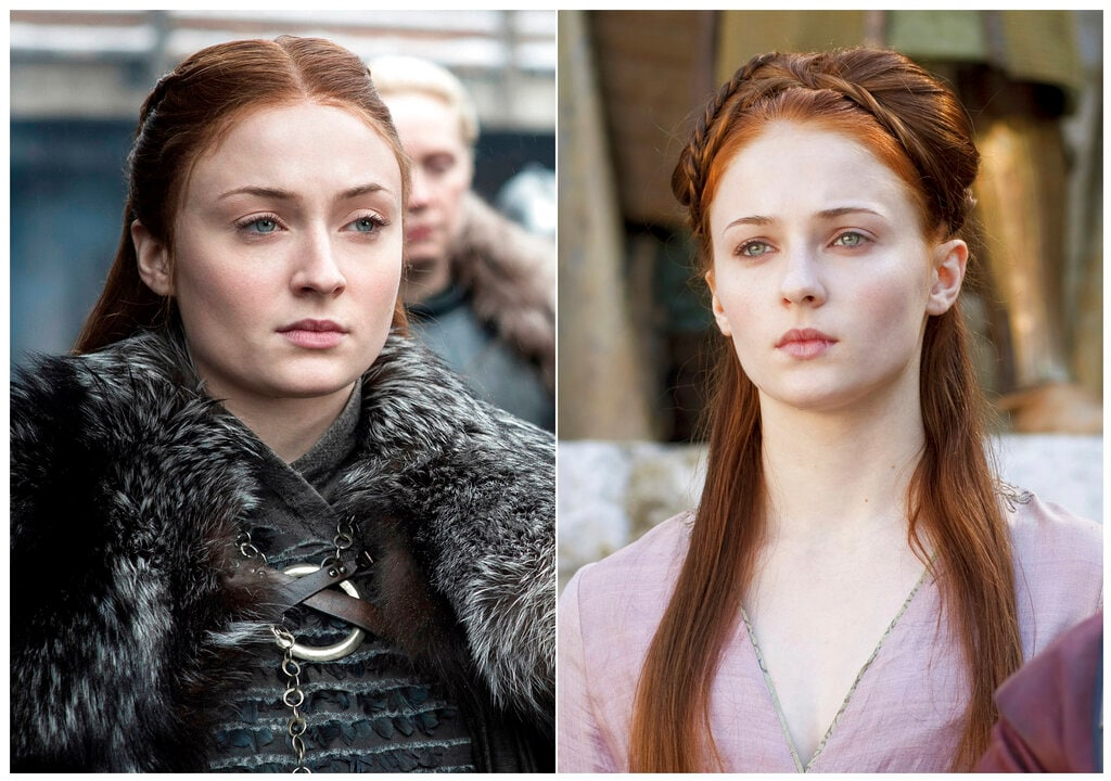 Sophie Turner as Sansa Stark. The elder Stark girl was the opposite of Arya: lady-like and with an ambition of marrying a prince. She would soon realise that some dreams are better left unfulfilled. Her time as a princess saw her go through the worst of abuses from being a witness to the unjust beheading of her father to the prospect of marrying his murderer and from being almost violated in public to being violently raped on her wedding night. Through it all, 'the little bird' evolved into a strong lady of Winterfell. (HBO via AP)