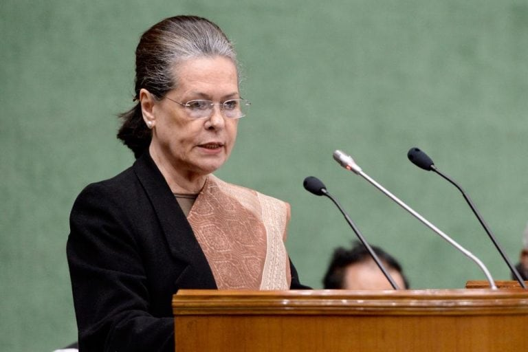 Maharashtra govt formation: Sonia Gandhi meets senior leaders; to meet NCP today