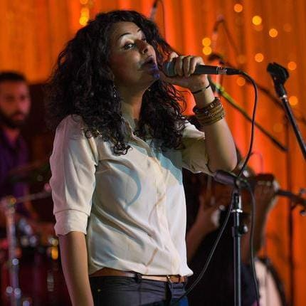 4. <em>Dina El Wedidi, Egypt: She is drawing inspiration from history to change the future. Wedidi learned to sing Egyptian folk songs and then went on to meld the heritage sounds with jazz, underground rock and electronic music. A modern operetta that she took part in called Khalina Nehlam (Let us Dream) captured the mood of Arab Springs.</em>