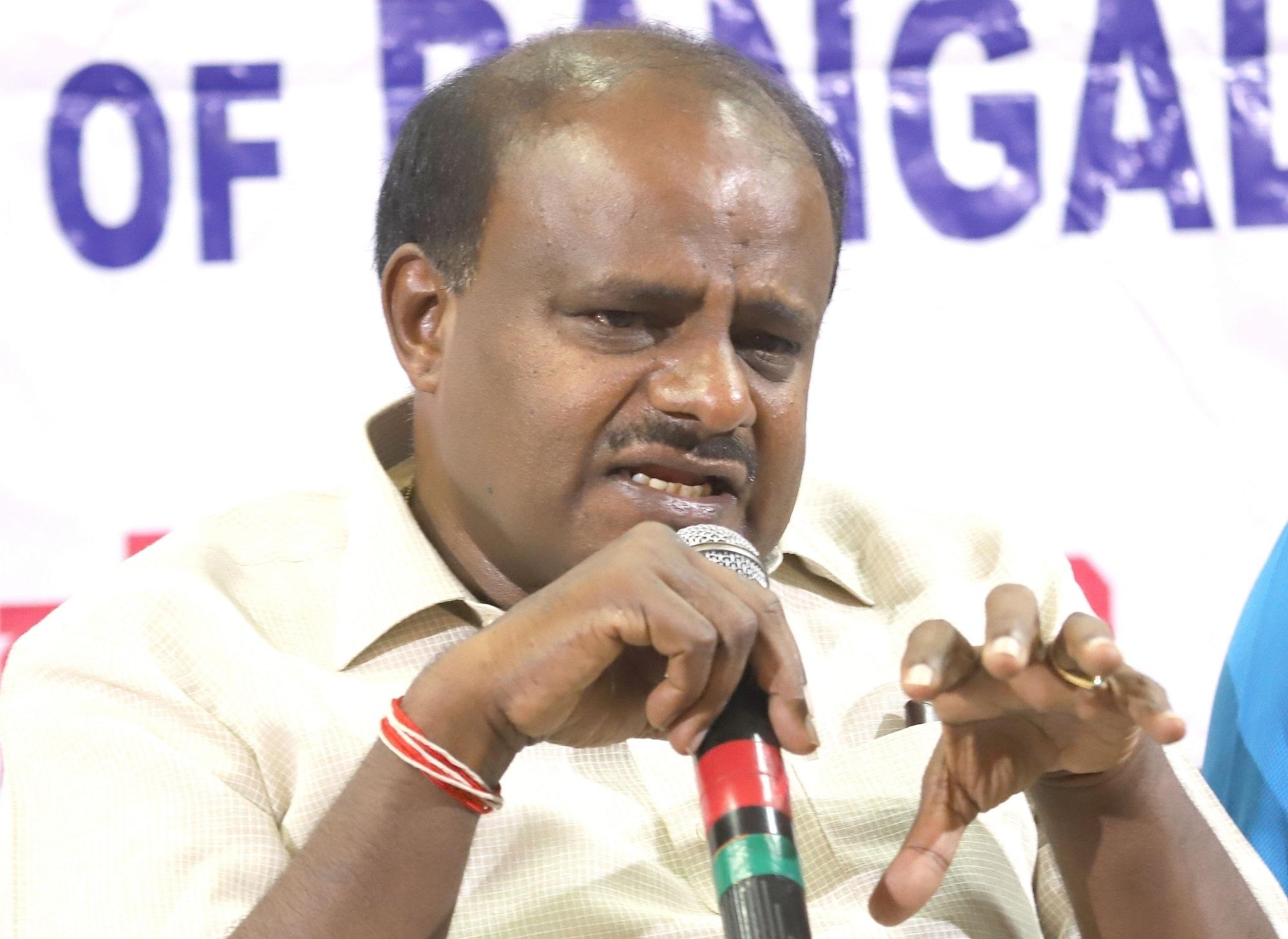 Karnataka chief minister and Janata Dal (Secular) leader HD Kumaraswamy. (Image: IANS)