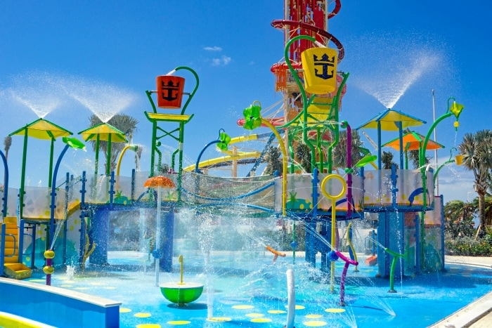 The island also has a 1,600-foot-long zipline course, a wave pool, and a helium balloon that gives visitors a few of the island from a height of 450 feet. Photo Courtesy: Royal Caribbean