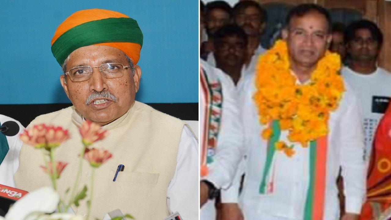 <strong>Arjun Ram Meghwal vs Madan Gopal Meghwal (Bikaner):</strong> Union minister of state for water resources Arjun Ram Meghwal is contesting as the BJP candidate for the third time, while his cousin Madan Gopal Meghwal is a Congress candidate for the first time. Arjun Ram had entered politics in 2009 after resigning from the Indian Administrative Service and won the Bikaner Lok Sabha seat. ( Image courtesy: IANS & Twitter)
