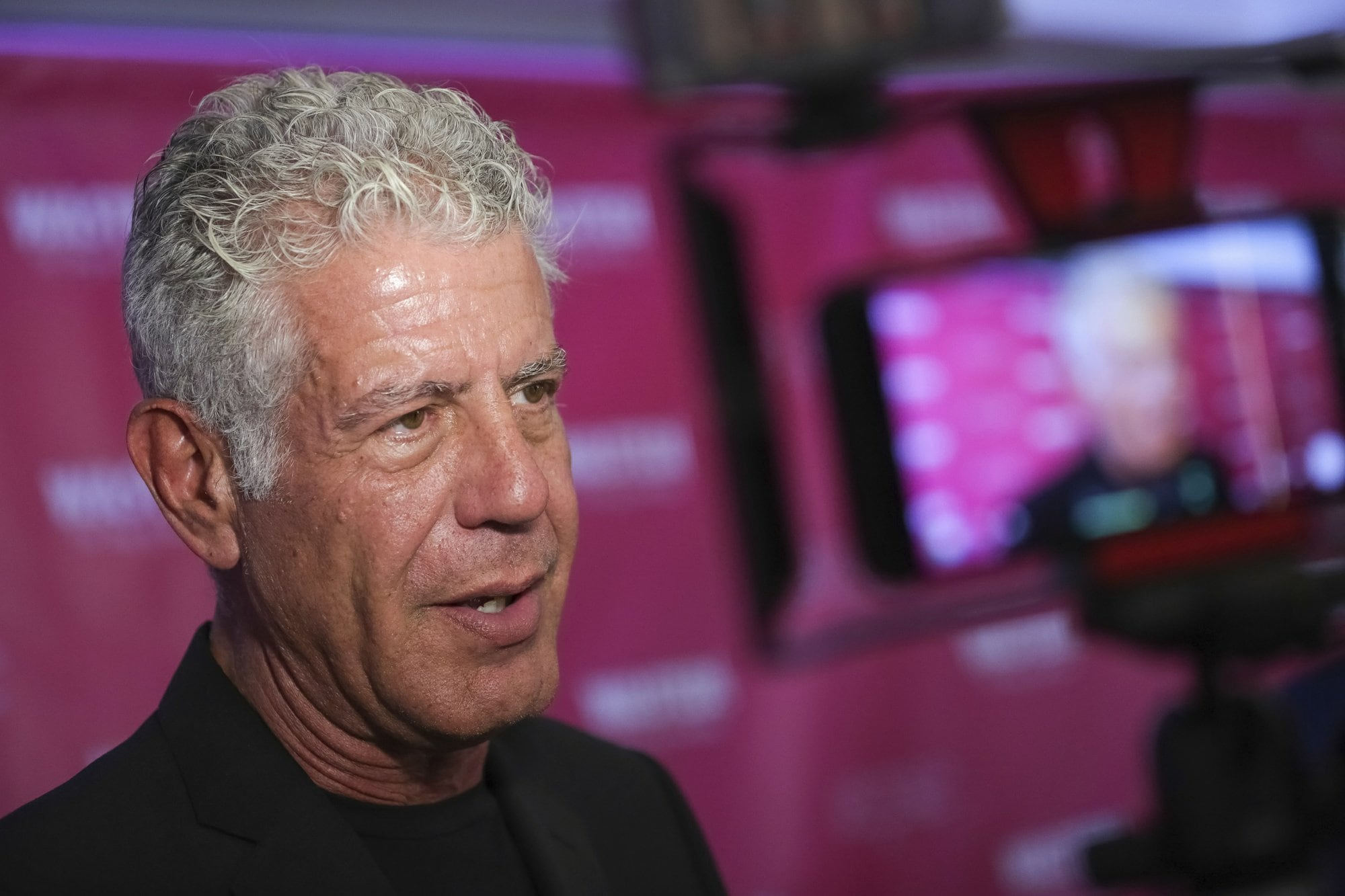 FILE - In this Oct. 5, 2017 file photo, Executive Producer and narrator chef Anthony Bourdain attends the premiere of