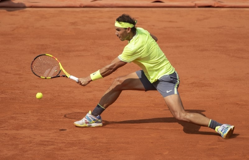 Rafael Nadal (ESP) in action during a match against Kei Nishikori (JAP) on day 10 of the 2019 French Open at Stade Roland Garros in French Open at Roland Garros, Paris, France - June 4, 2019. Susan Mullane-USA TODAY Sports/Files