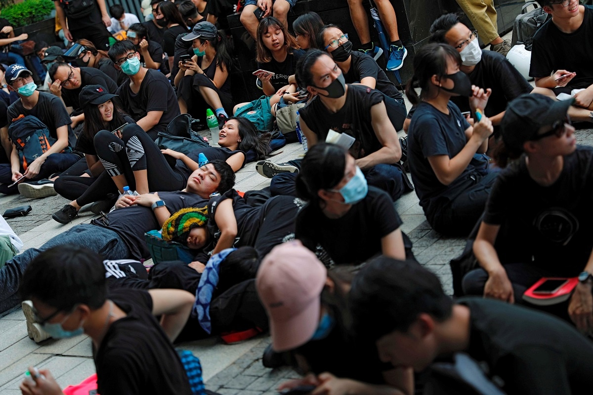 Thousands of people dressed in black rallied in Hong Kong on Friday after the expiry of a deadline protesters set for the government to scrap a controversial extradition bill -- the latest wave of protests to rock the Chinese-ruled city. REUTERS/Tyrone Siu