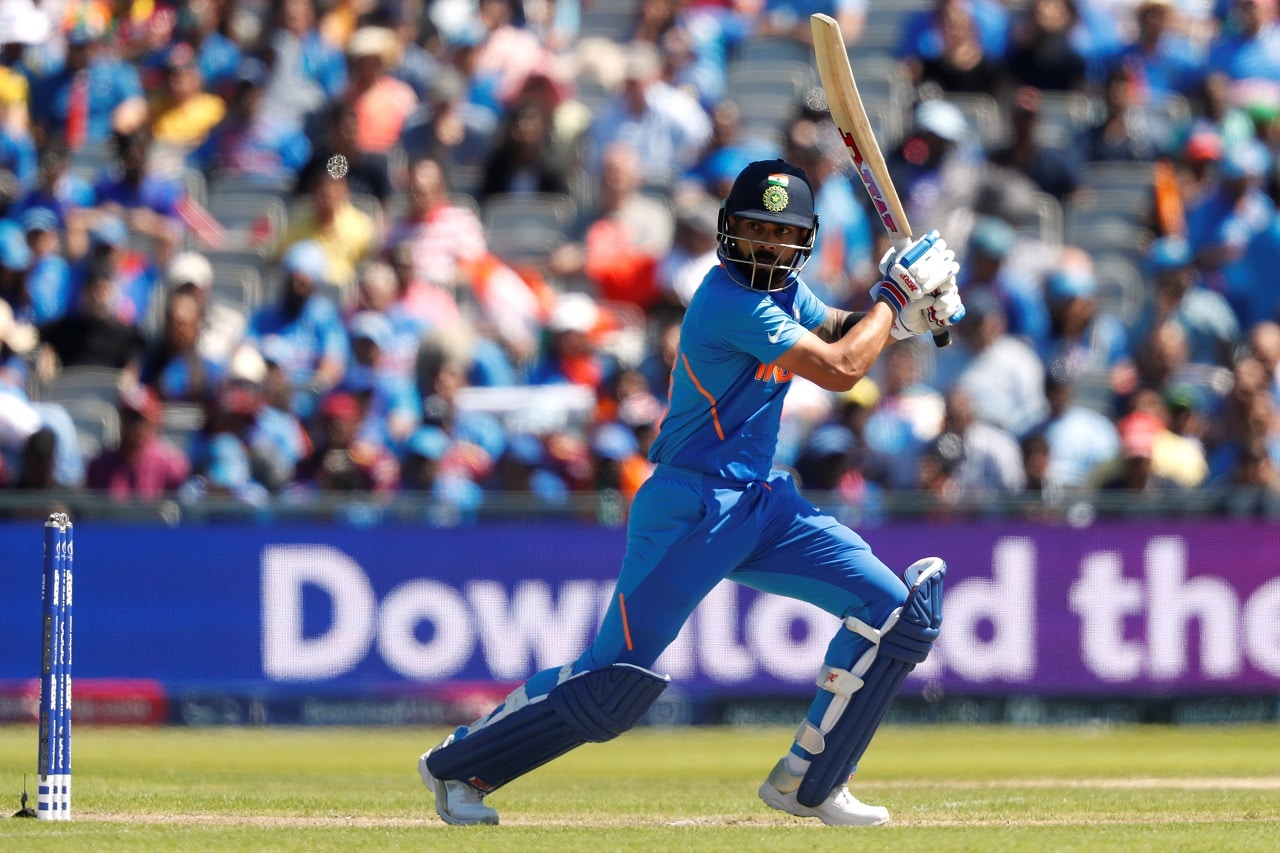 Cricket - ICC Cricket World Cup - West Indies v India - Old Trafford, Manchester, Britain - June 27, 2019 India's Virat Kohli in action Action Images via Reuters/Lee Smith