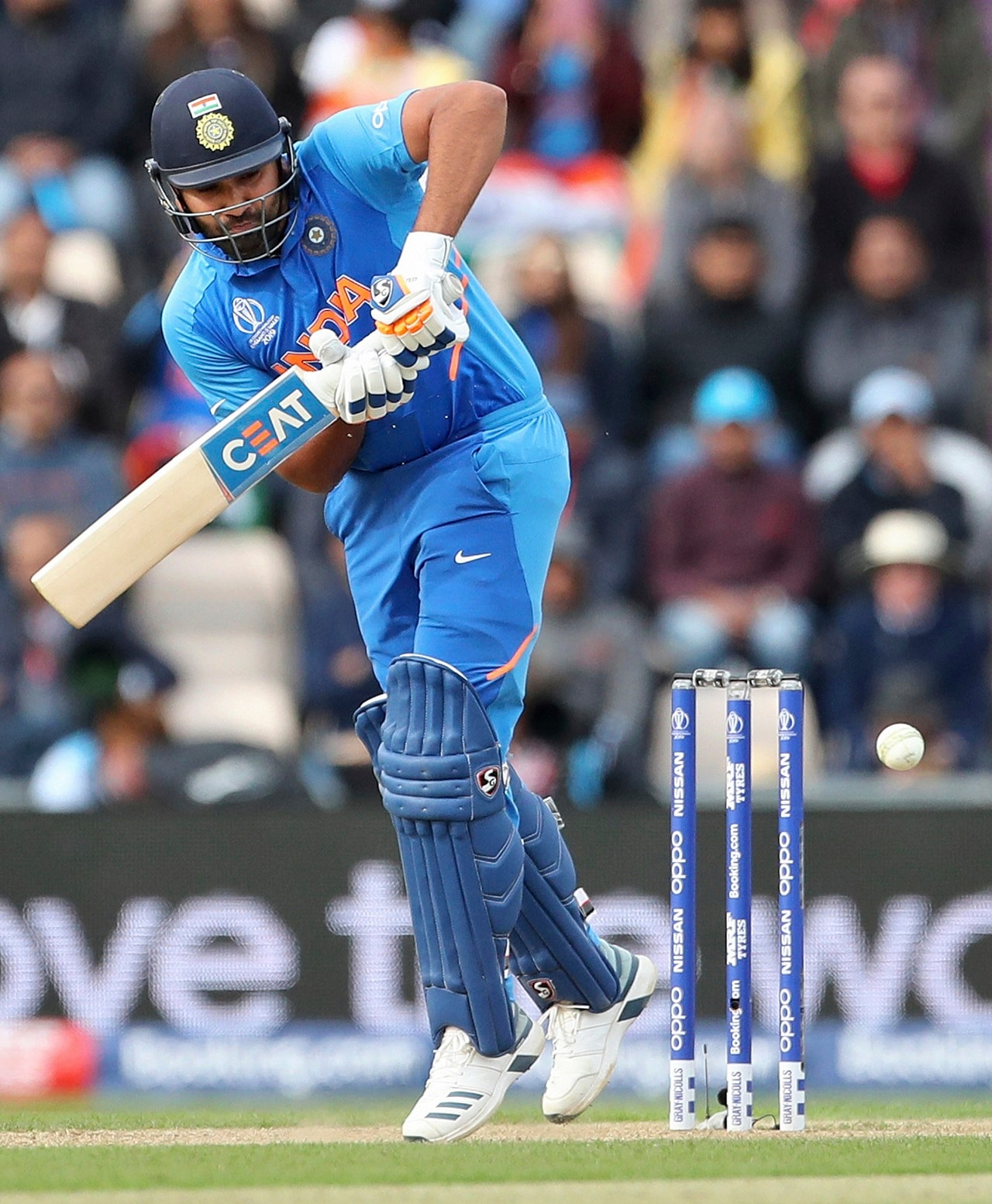 India's Rohit Sharma bats during the Cricket World Cup match between South Africa and India at the Hampshire Bowl in Southampton, England, Wednesday, June 5, 2019. AP/PTI(AP6_5_2019_000253B)
