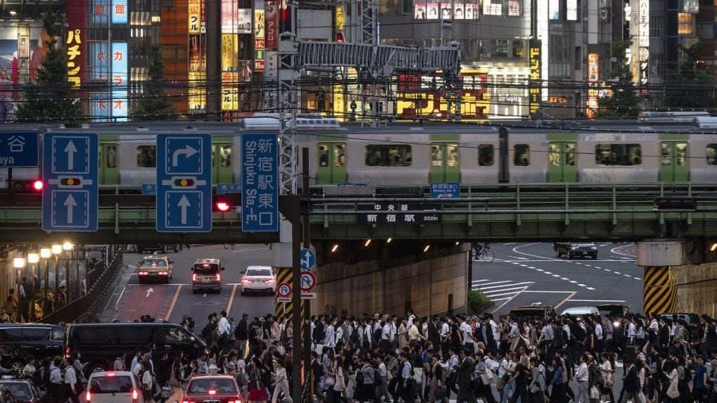 In the loop: Tokyo seen from commuter train line
