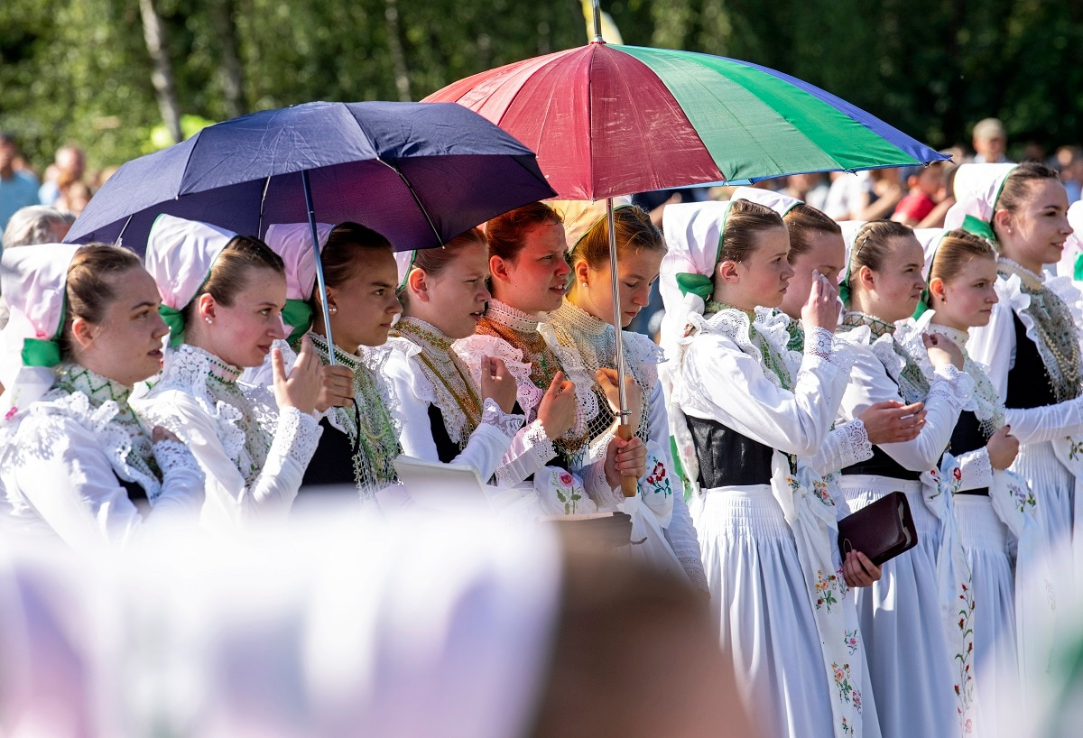 The day is a national holiday in Germany and many other countries. (AP Photo/Jens Meyer)