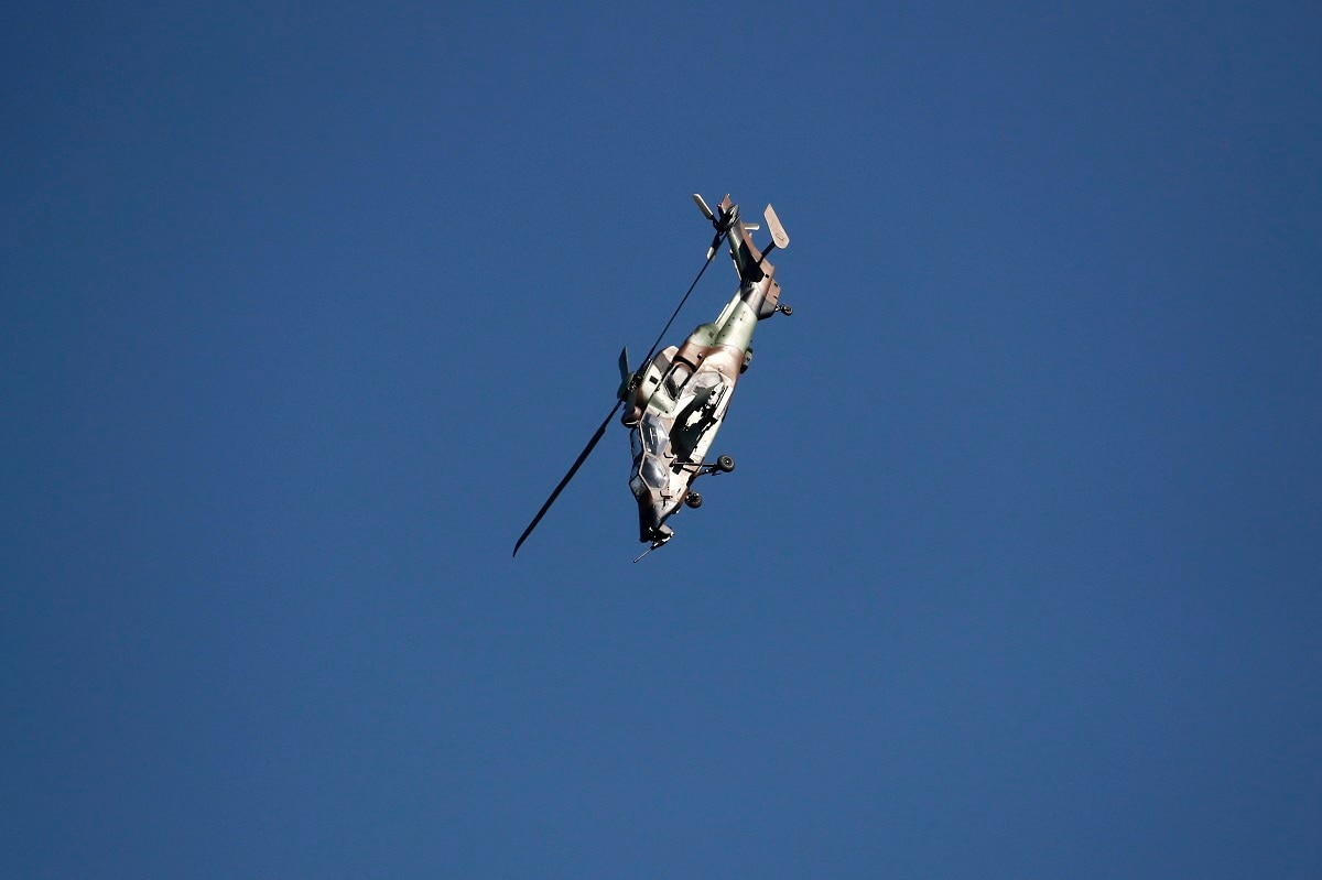 A French Army Eurocopter Tiger helicopter performs during the inauguration the 53rd International Paris Air Show at Le Bourget Airport near Paris. Benoit Tessier/Pool via AP