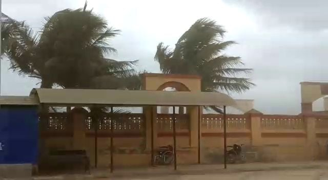 A view of Somnath Temple in Gujarat's Gir Somnath on June 12, 2019. Triggered by a warmer Arabian Sea and acquiring moisture from the southwest monsoon, cyclone Vayu on Wednesday got more intense with forecasts revising its wind speed up to 155 km-165 km per hour and gusting at 180 km when it touches the Gujarat coast on Thursday afternoon. (Photo: IANS)