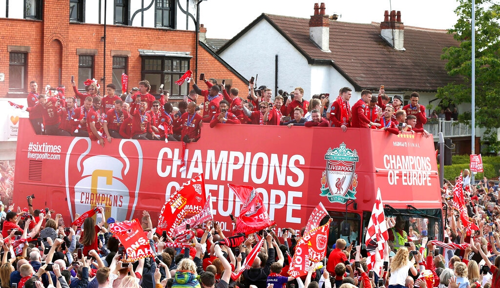 Liverpool have become European champions for the sixth time in their history. (Barrington Coombs/PA via AP)