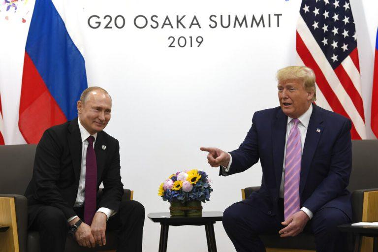 Donald Trump jokes to Vladimir Putin: 'Don't meddle in the election, please'