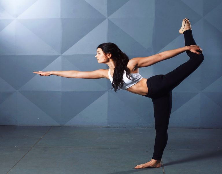 5th International Yoga Day: Actress Gul Panag shows us the standing bow pose