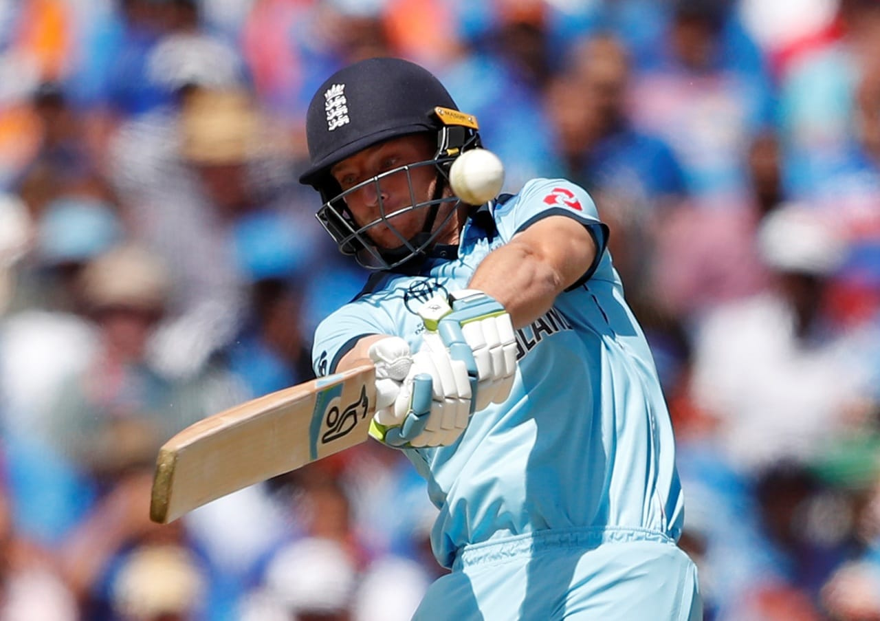 Cricket - ICC Cricket World Cup - England v India - Edgbaston, Birmingham, Britain - June 30, 2019 England's Jos Buttler hits a six Action Images via Reuters/Andrew Boyers