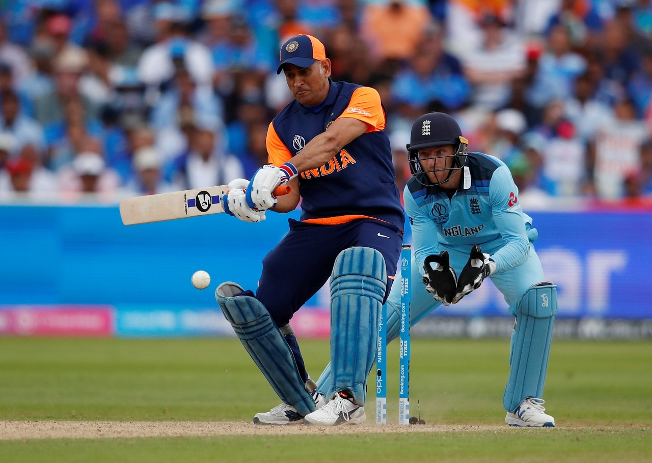 Cricket - ICC Cricket World Cup - England v India - Edgbaston, Birmingham, Britain - June 30, 2019 India's MS Dhoni in action Action Images via Reuters/Andrew Boyers