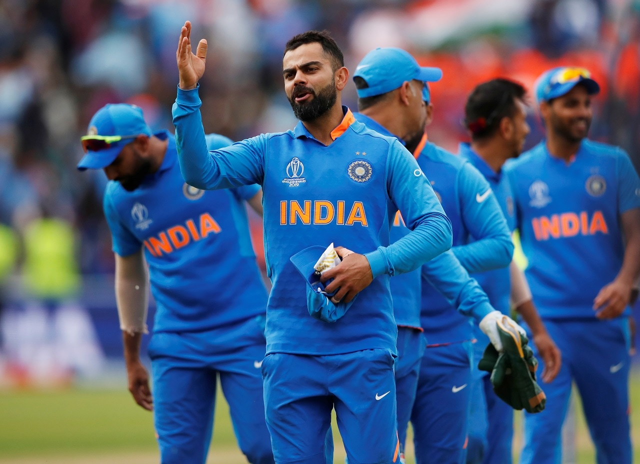 Cricket - ICC Cricket World Cup - Bangladesh v India - Edgbaston, Birmingham, Britain - July 2, 2019 India's Virat Kohli celebrates at the end of the match Action Images via Reuters/Andrew Boyers