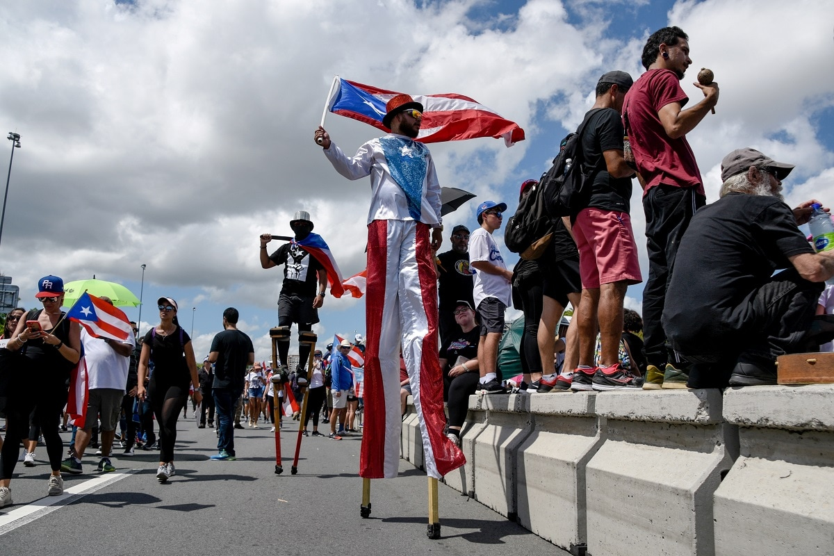 Protests have brought together Puerto Ricans from different political parties, and non-political islanders to vent anger at alleged corruption in the administration and its handling of hurricane recovery efforts. REUTERS/Gabriella N Baez
