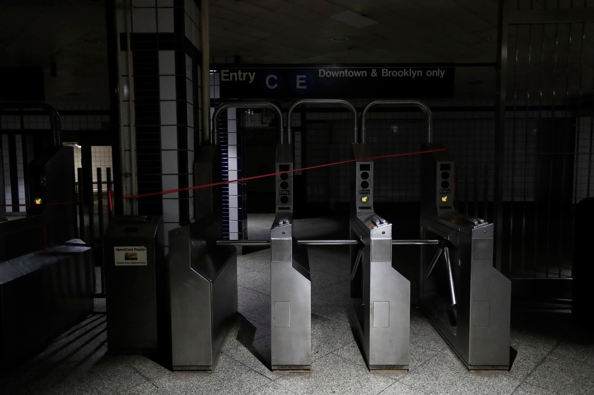 The outage affected the entire subway system, closing four Manhattan stations to the public — Columbus Circle, Rockefeller Center, Hudson Yards and Fifth Avenue at 53rd Street.  (AP Photo/Michael Owens)