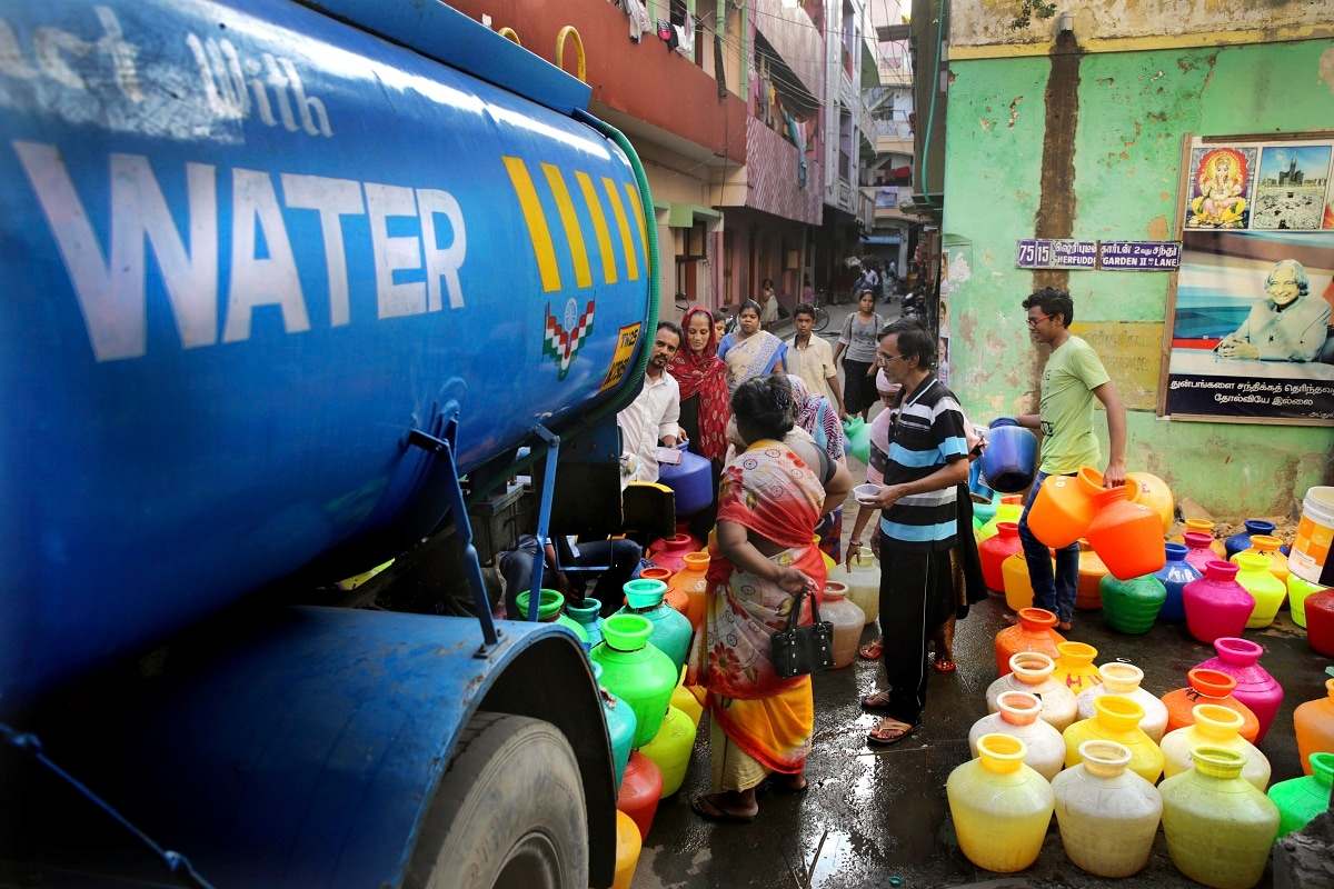 Authorities are taking extreme and costly measures to deliver potable water to its residents. (AP Photo/Manish Swarup)