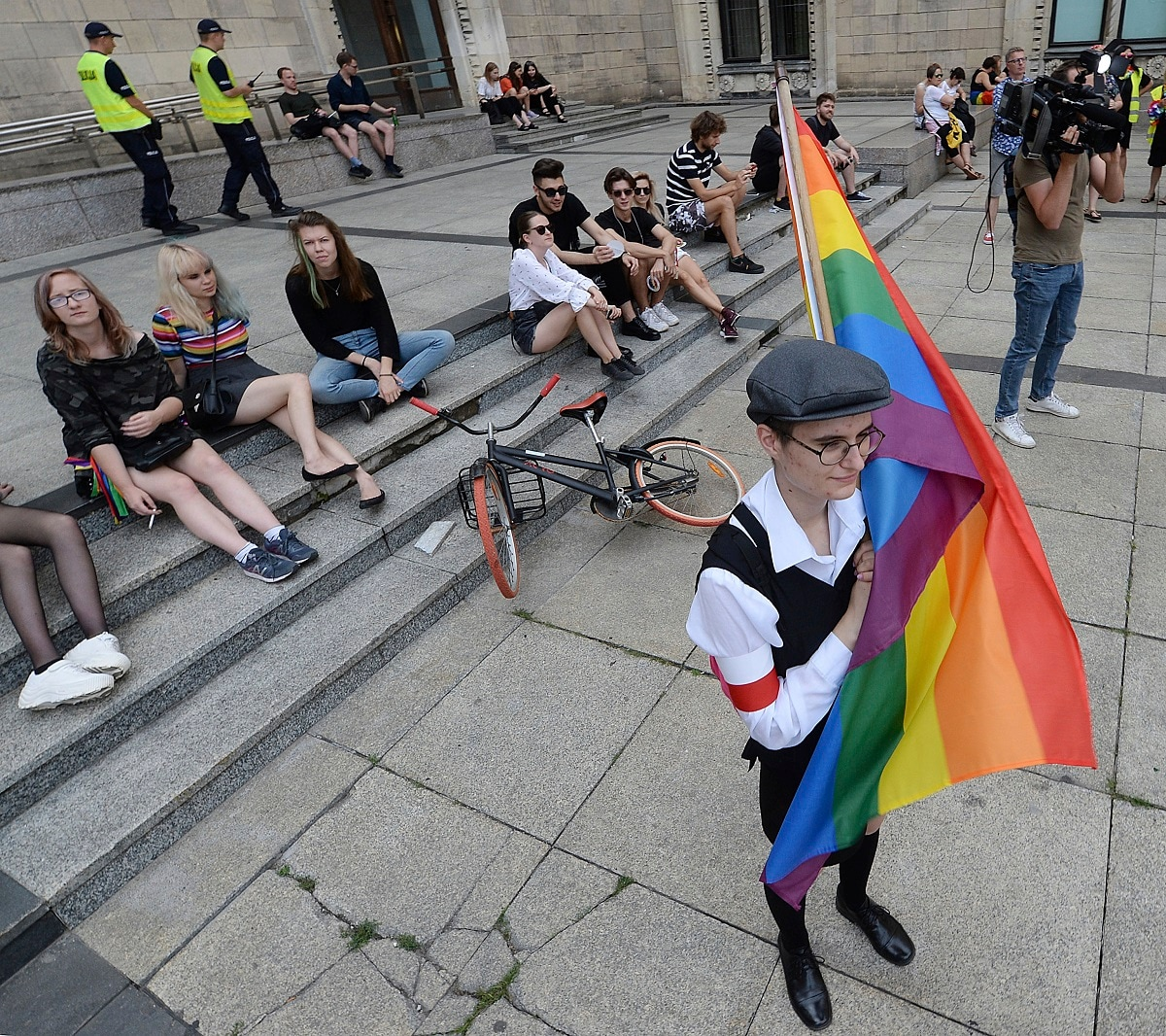 Poland's opposition left-wing parties have staged a rally against violence in the eastern city of Bialystok where an LGBT rights march was attacked last week by far-right groups. (AP Photo/Czarek Sokolowski)