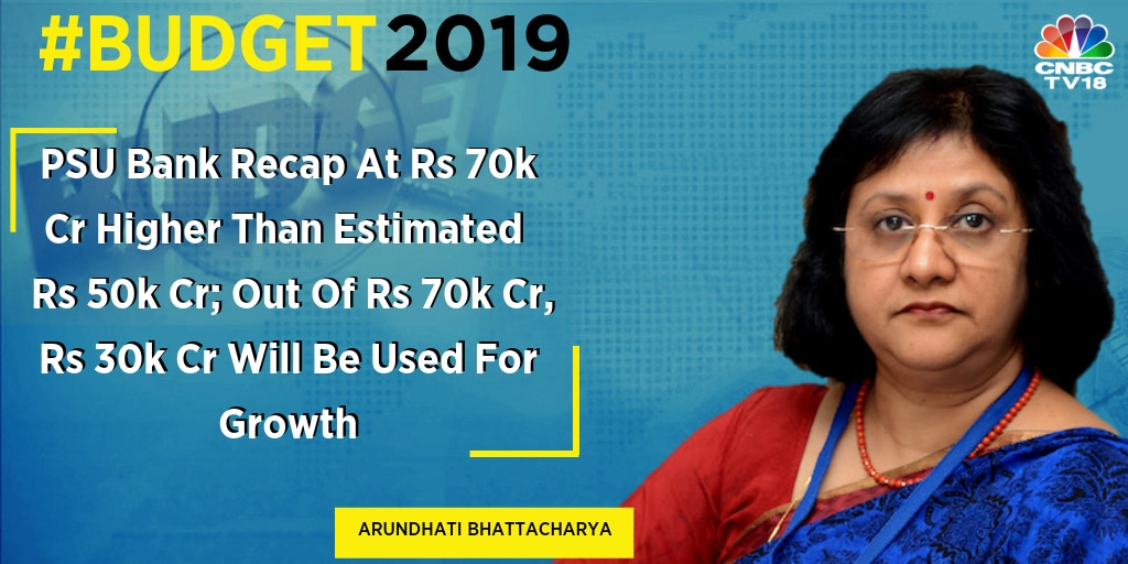 """Rs 70,000 crore is a little more than what the market was expecting... So, they have considered some amount of growth capital and not only regulatory capital,"" said Arundhati Bhattacharya, former SBI chairman."