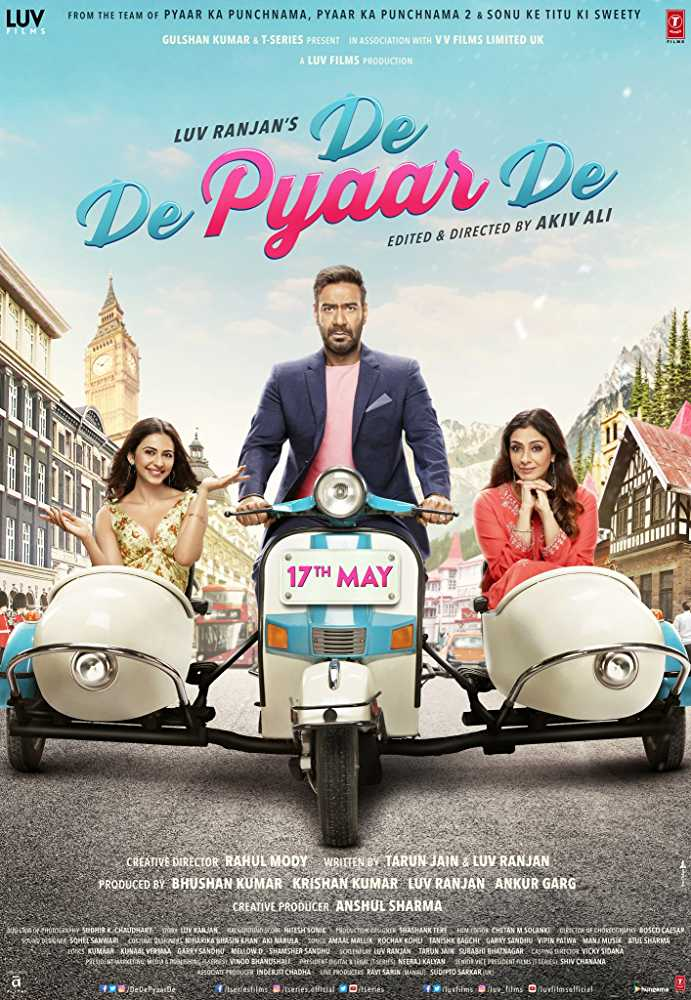 De De Pyaar De: Rs 102.40 crore- It is the story about a 50-year-old single father who faces disapproval from his family and his ex-wife when he falls in love with a 26-year-old woman.