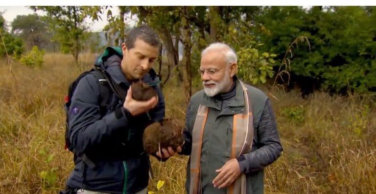 PM Modi walks in the wild with Bear Grylls