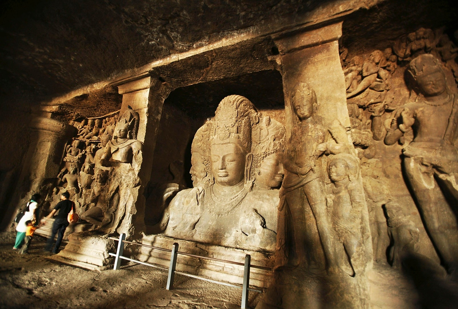 Elephanta Caves, Maharashtra: The 'City of Caves', on an island in the Sea of Oman close to Bombay, contains a collection of rock art linked to the cult of Shiva. Here, Indian art has found one of its most perfect expressions, particularly the huge high reliefs in the main cave. (Image: Reuters)