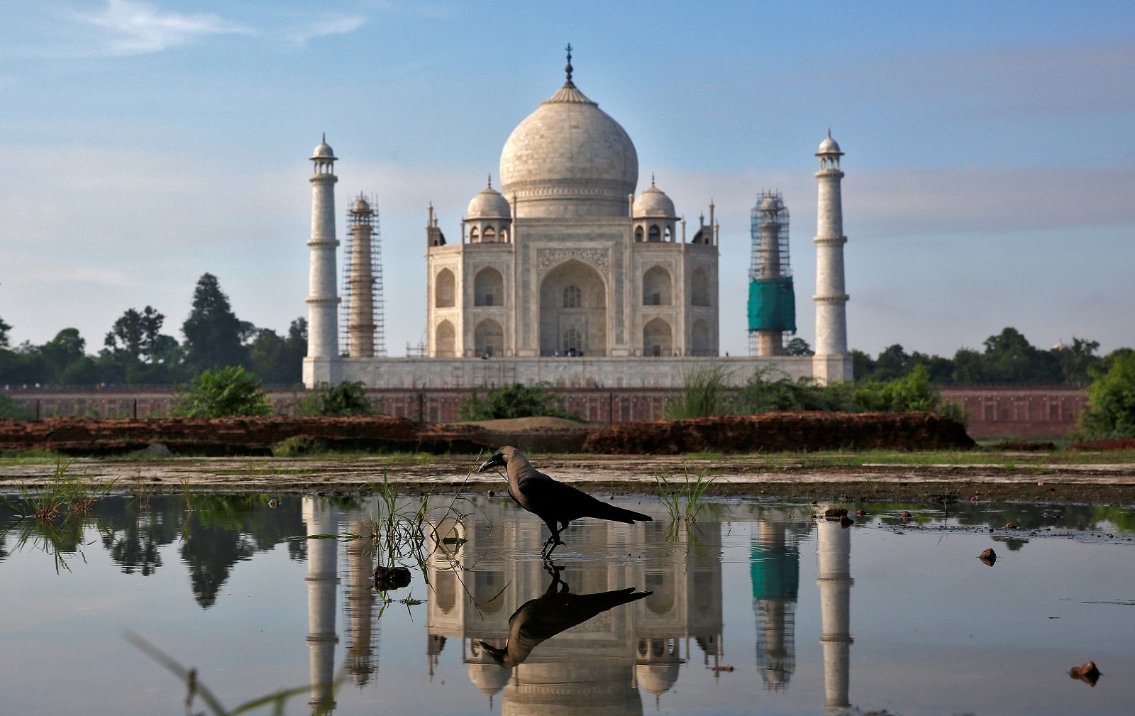 Taj Mahal, Uttar Pradesh: An immense mausoleum of white marble, built in Agra between 1631 and 1648 by order of the Mughal emperor Shah Jahan in memory of his favourite wife, the Taj Mahal is the jewel of Muslim art in India and one of the universally admired masterpieces of the world's heritage. (Image: Reuters)