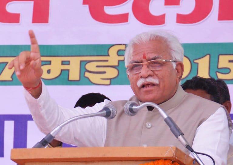 Manohar Lal Khattar takes oath as Haryana CM for second term
