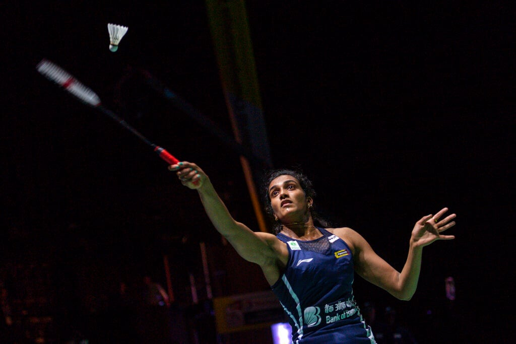 Sindhu defeated Japan's Nozomi Okuhara in 21-7, 21-7 to win the women's singles in Basel on Sunday, a victory that also boosted the nation's hopes of an Olympic gold medal in Tokyo next year. (Image: AP)