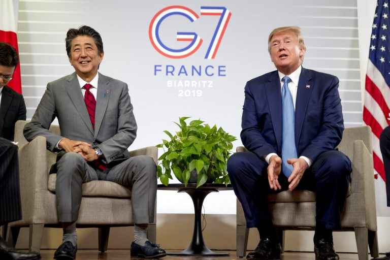 G-7 Summit: Donald Trump, Shinzo Abe say US and Japan have agreed in principle on trade deal
