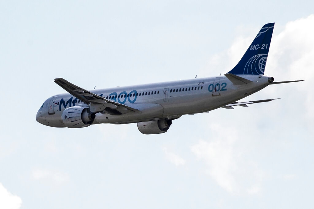 Russia on Wednesday unveiled its new passenger plane MC-21, billed as a competitor to Boeing and Airbus even as the project is overshadowed by sanctions and setbacks with its predecessor, the Superjet. (Image: AP)