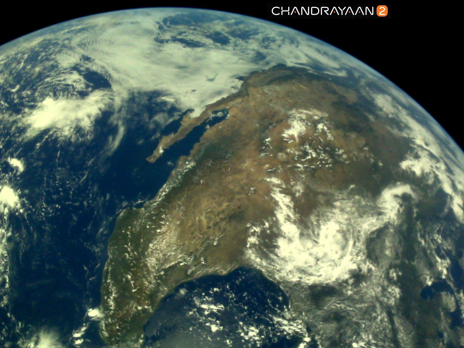 Isro released the first set of pictures of Earth captured by Chandrayaan-2 Vikram Lander earlier this month. (Image source: ISRO twitter)