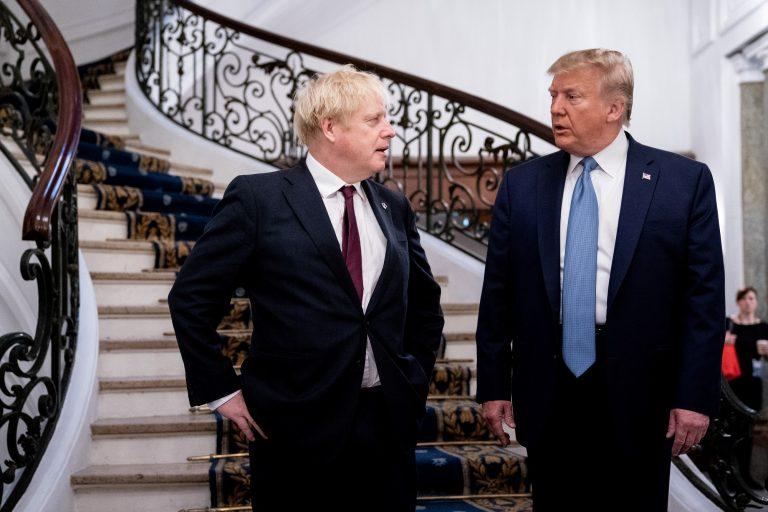 Donald Trump, Boris Johnson discuss Huawei on G7 sidelines