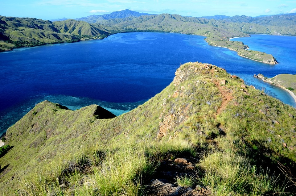 Komodo Island: The sea around the Komodo and its neighbouring islands provide some of the world's best diving spots. It harbours spectacular coral reef and range of aquatic life, left untouched from bleaching. However, the growing acidification and rise in temperature might lead to immense loss of its beauty and natural diversity.