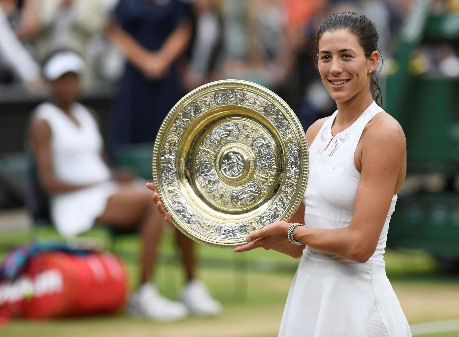 #10. Garbine Muguruza (tie): Total Earnings: $5.9 million. Earnings fell for the two-time major winner as her ranking dropped to a recent No. 28 from second in the world at the end of 2017. She still maintains a deep endorsement roster with Adidas, Evian, Beats, Rolex and Babolat. (Image: Reuters) (Caption Credit: Forbes)