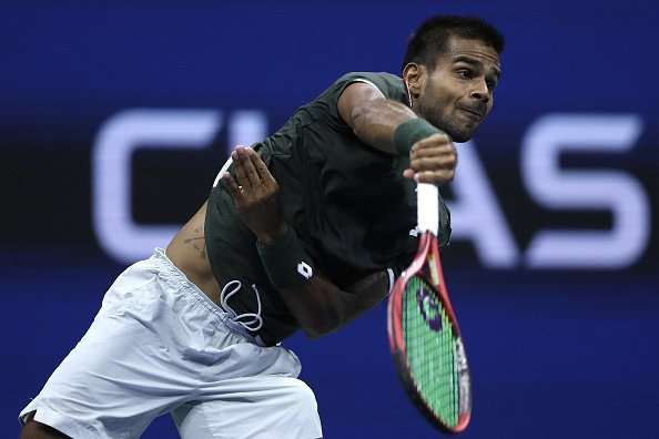 India's Sumit Nagal wins first set against Roger Federer at the US Open