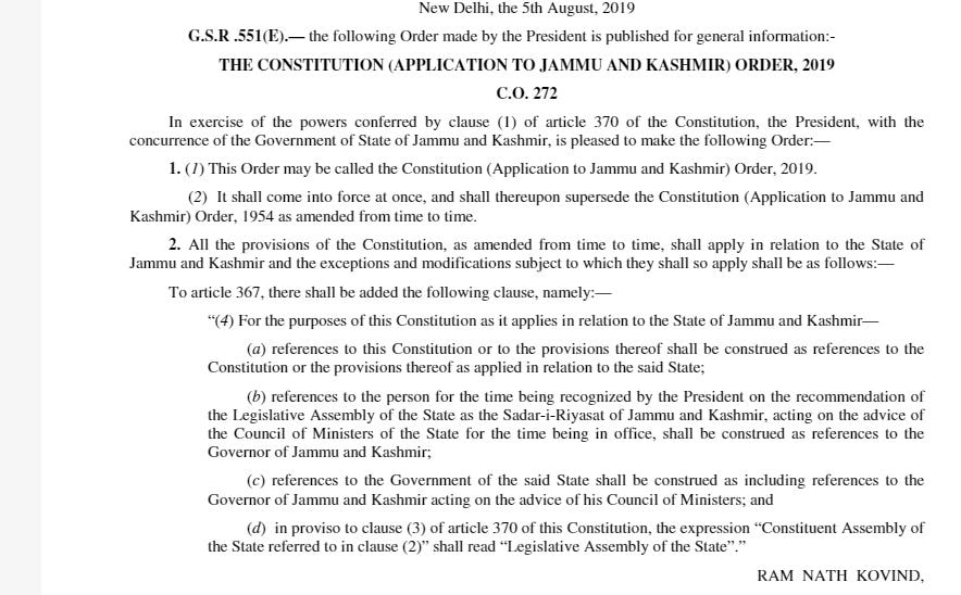 Jammu & Kashmir Unrest: Government revokes Article 370, Article 35A
