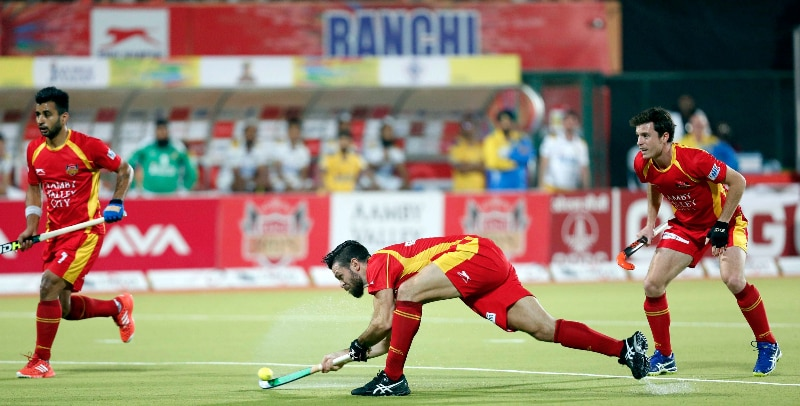Dhoni is also the co-owner of theRanchi Rays – the Jharkhand based franchise of the Hockey India League. (Image Source: hockeyindia.org)
