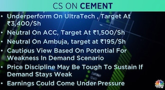 Credit Suisse on Cement: