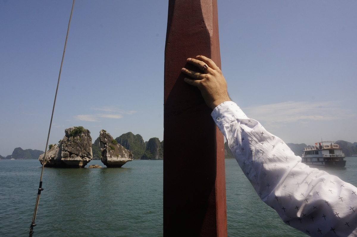 A view of Halong Bay, a UNESCO World Heritage Site and popular travel destination in Vietnam.