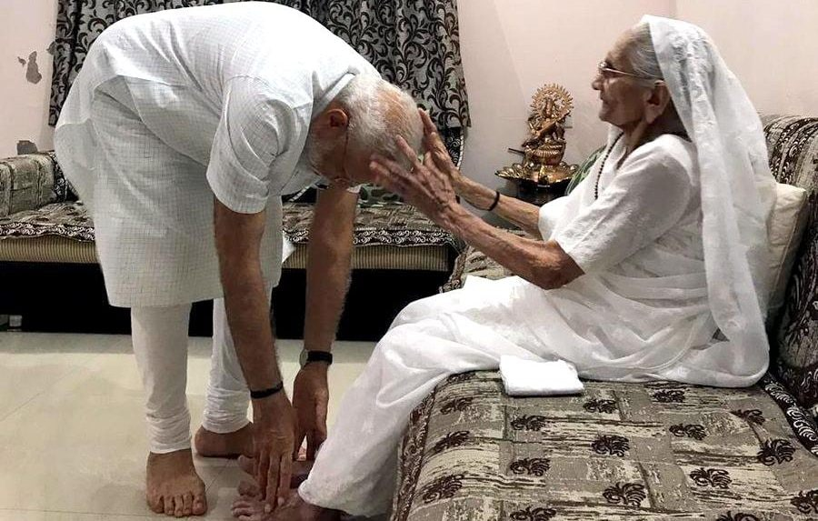 PM Modi to start his 69th birthday with mother's blessing