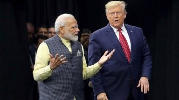 PM Narendra Modi targets Pakistan over terror, Article 370 with Donald Trump listening