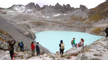 Climate activists hold event to mark vanishing Swiss glacier