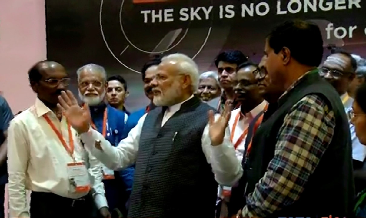 PM Modi interacts with ISRO scientists after contact with lander Vikram was lost | PTI Photo
